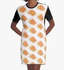 Isometric Pepperoni Pizza Graphic T-Shirt Dress