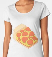 Isometric Pepperoni Pizza Women's Premium T-Shirt