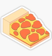 Isometric Pepperoni Pizza Sticker