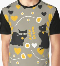 Romantic kitties Graphic T-Shirt