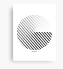 Stripes can be in a disc (BoW) Metal Print