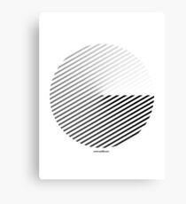 Stripes can be in a disc (BoW) Canvas Print