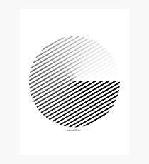 Stripes can be in a disc (BoW) Photographic Print