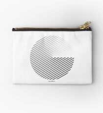 Stripes can be in a disc (BoW) Zipper Pouch