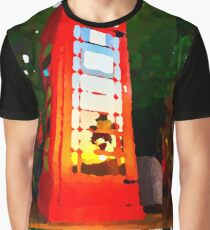 Red Phone Booth Graphic T-Shirt