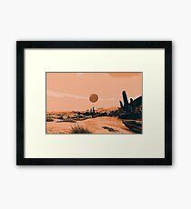 A Distant Desert Planet Framed Print