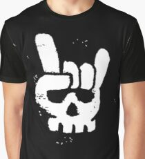 Sign of the Horns Skull Graphic T-Shirt