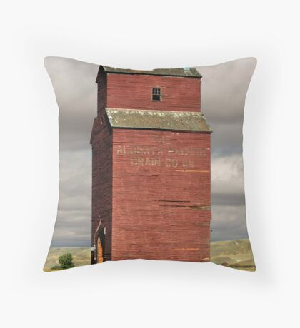 Grain Elevator Dorothy, Alberta Throw Pillow