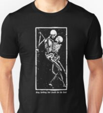 Skeletons Death Hug | May Nothing But Death Do Us Part [ES00] Unisex T-Shirt