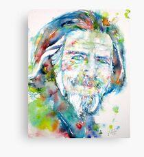 ALAN WATTS - watercolor portrait Canvas Print