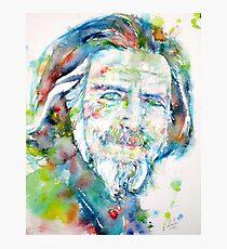 ALAN WATTS - watercolor portrait Photographic Print