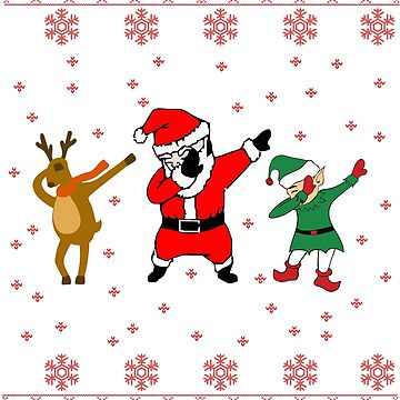 Dabbing Santa Ugly Christmas Sweater Gift by ArtTeez