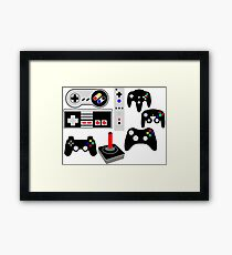 games through the years Framed Print