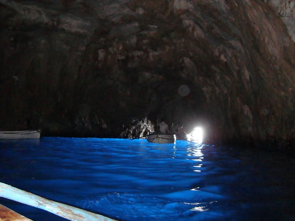 The Blue Grotto in Capri by Debjani