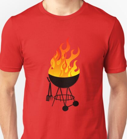 BBQ Black Pattern T-Shirt