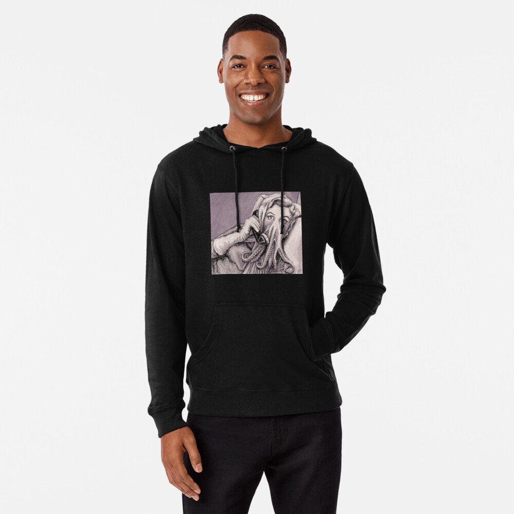 Phone Call of Cthulyn Lightweight Hoodie
