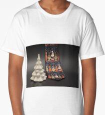 silk tie Santa Claus, white spruce Long T-Shirt