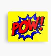Superhero POW! Metal Print
