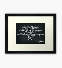 It's All In The Game Though Framed Print