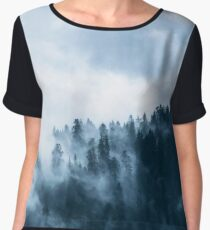 Fog Forest Mointain Women's Chiffon Top