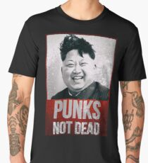 Kim Jong Un - Punks Not Dead - Funny Men's Premium T-Shirt
