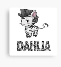 Zebra Dahlia Canvas Print