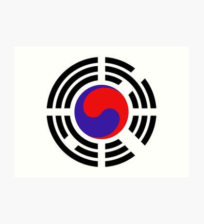 Korean Patriot Flag Series Art Print