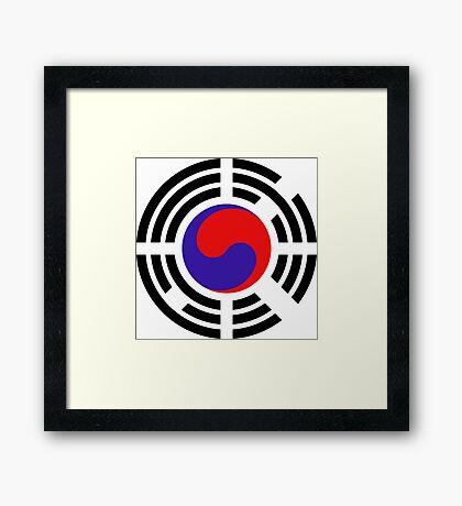 Korean Patriot Flag Series Framed Print