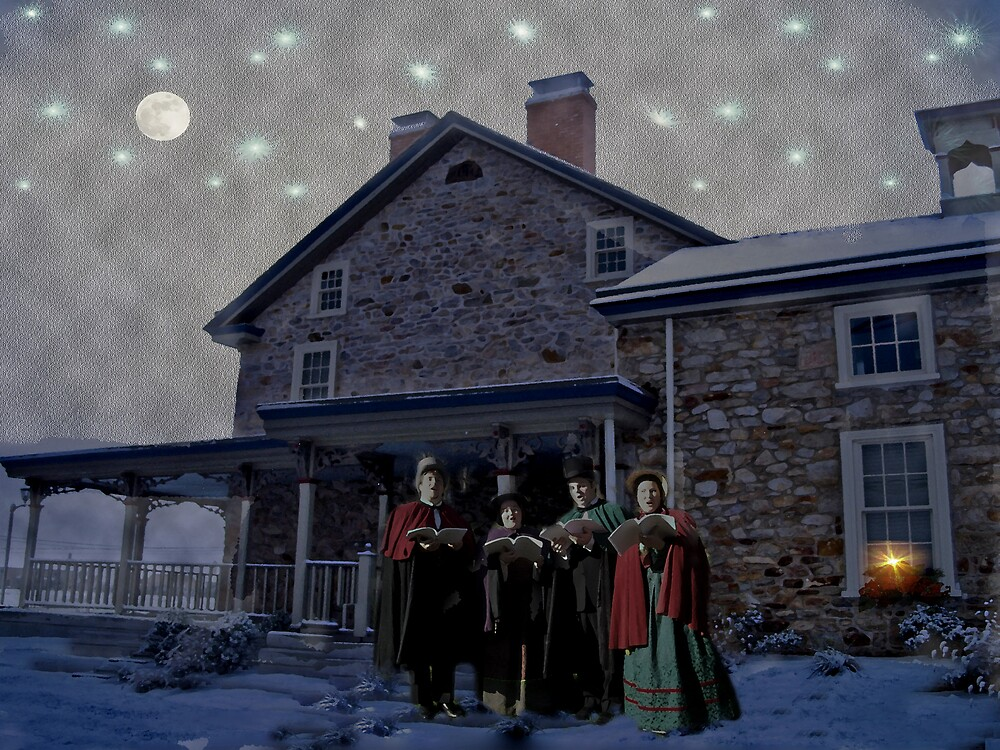 Carolers Singing in the Snow by Judi Taylor