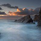 Sundown Sandymouth bay  by eddiej