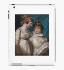 John Raphael Smith () Double portrait of Elizabeth and Mary Hannah Smith, the artist's daughters iPad Case/Skin
