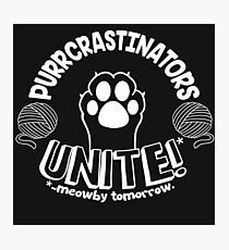 Purrcrastinators unite - procrastinators cat lovers Photographic Print