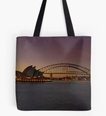 Sydney Opera House Lights Dimmed  As A Tribute To Architect Joern Utzon Tote Bag