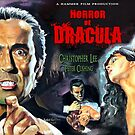 Christopher Lee - Horror of Dracula movie poster painting art by Star Portraits Soutsos Art
