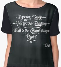 It's All In The Game Though Chiffon Top