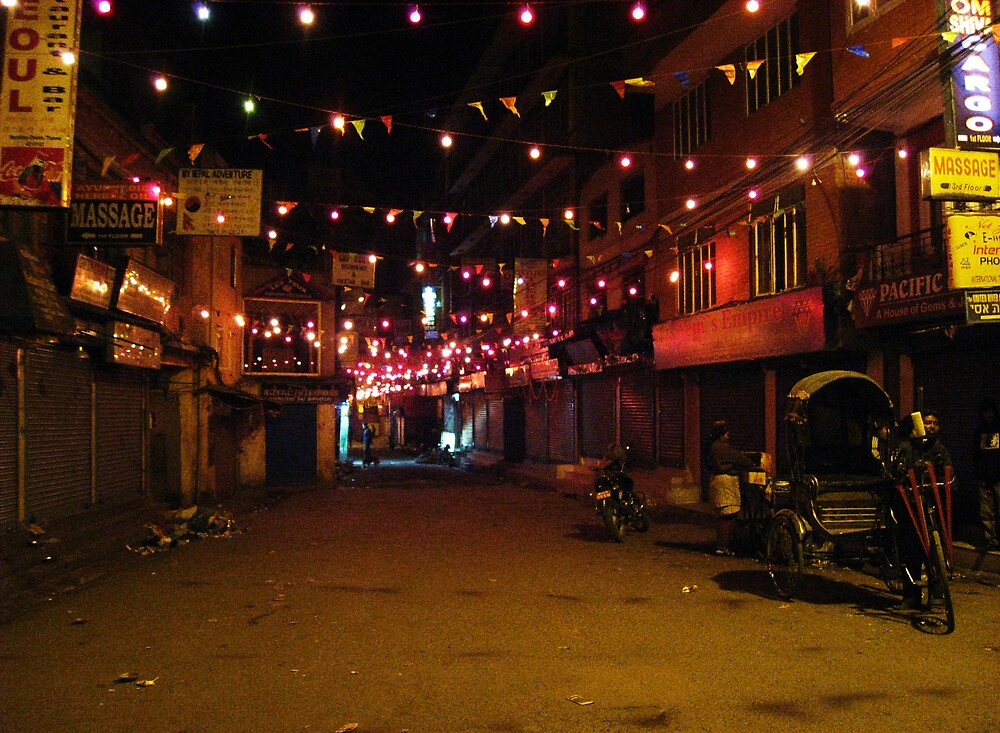 Thamel at night by mypics4u