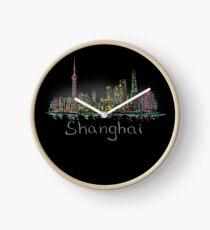Shanghai Panorama at night Clock