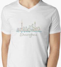 Shanghai Panorama V-Neck T-Shirt