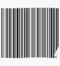 Barcode Quooki Barcode Black Poster