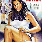 Malena - Monica Bellucci painting movie poster by Star Portraits Soutsos Art