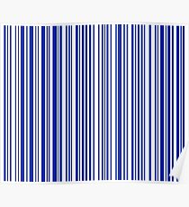 Barcode Quooki Barcode Blue Poster