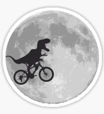 T-rex riding a bike Sticker
