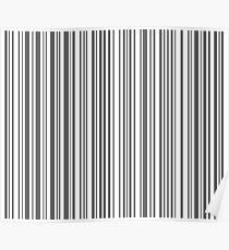 Barcode Quooki Barcode Grey Poster