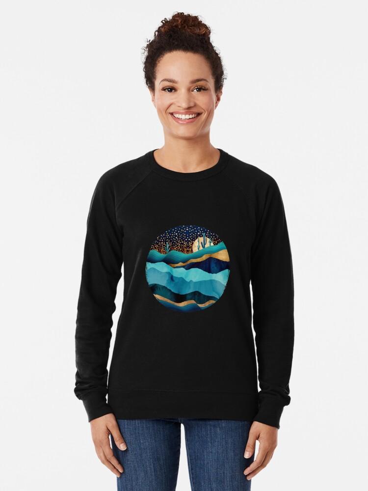 Alternate view of Indigo Desert Night Lightweight Sweatshirt