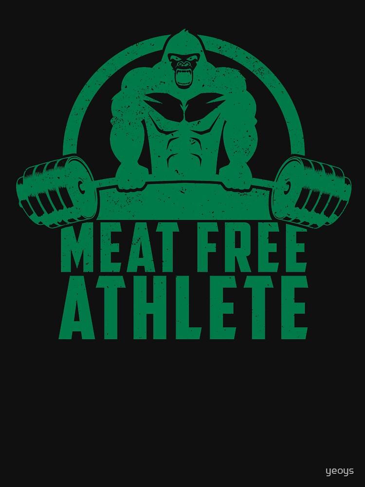 Meat Free Athlete Vegan Gorilla - Funny Workout Quote Gift von yeoys