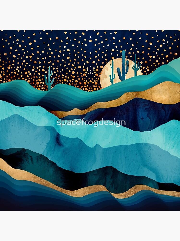 Indigo Desert Night by spacefrogdesign