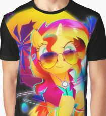 Synthwave Sunset Shimmer Graphic T-Shirt