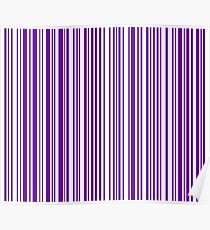 Barcode Quooki Barcode Indigo Poster