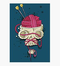 Knitters Skull Photographic Print