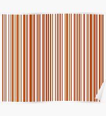 Barcode Quooki Barcode Orange Poster